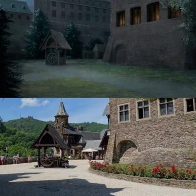 Cochem Castle - courtyard