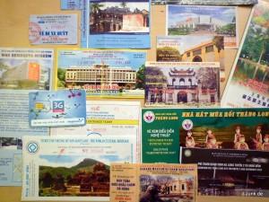 Eintrittskarten, Fahrkarten und SIM Karte