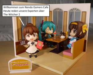 Popura Miku Haruhi in Nendo Cafe
