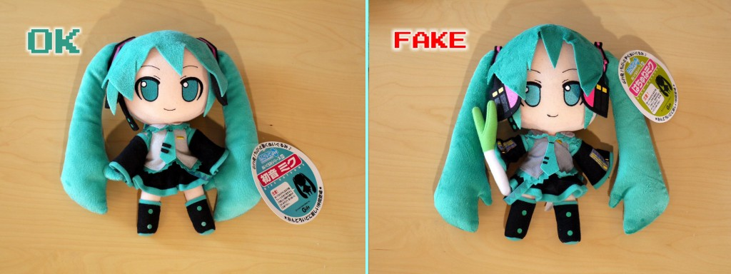 Miku Hatsune Plushies original and fake