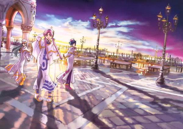 Alice, Akari und Aika am Palazzo Ducale