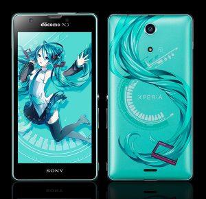 Miku Hatsune Sony Xperia smartphone