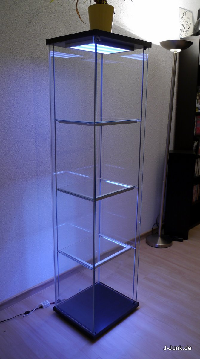 ikea detolf mit leds wireless ultimate version j junk. Black Bedroom Furniture Sets. Home Design Ideas