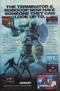 Interessant auch die Anzeige aus einer EGM die sich klar an Robocop & Terminator Zielgruppe richtet