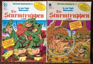 Die Sturmtruppen Comics zeigen deutliche Ähnlichkeiten zu den Soldaten aus Metal Slug.