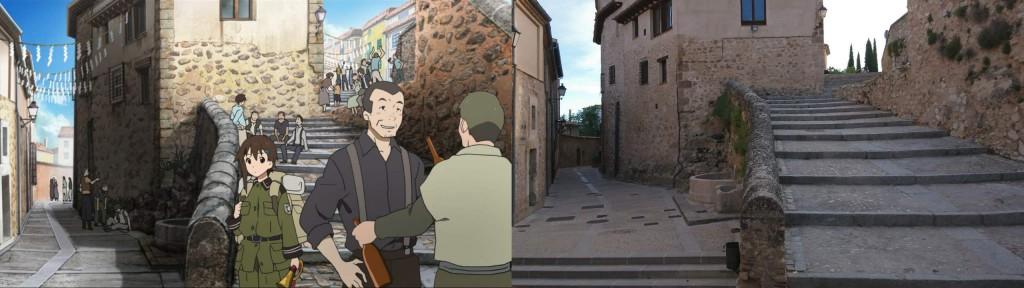 Nahe vom Museo Fundación Antonio Pérez ist dann diese Treppe aus dem Anfang von der ersten Folge.