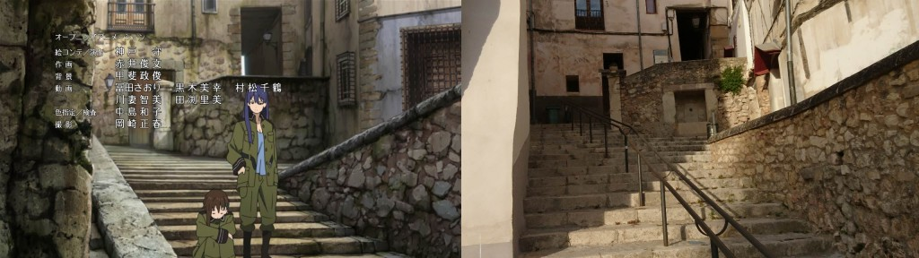 Szene aus dem Abspann, wenn man vom Plaza Mayor Richtung Felshang runtergeht (Westen), kleine verwinkelte Gänge/Treppen wie teilweise in Venedig finde ich.