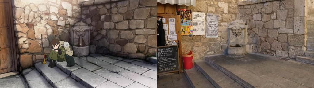Auf den Weg zum Plaza Mayor ist ein kleiner Brunnen - kann man nicht verpassen.